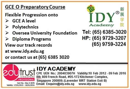 GCE O Level at IDY Academy